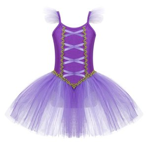 Stage Wear Kids Girls Ballet Tulle Tutu Dress Princess Dance Performance Ballerina Costumes Birthday Gift Party