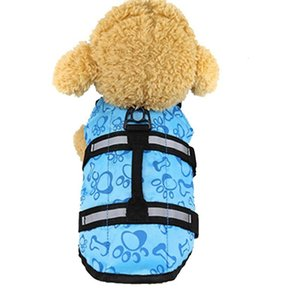 The dog clothes clothing summer life jacket small Pet dog swimsuit