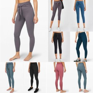L-01 Running Fitness Athletic Yoga Pants Girls High Waist Yoga Outfits Ladies Sports Leggings Gym Clothes Womens Leggings Workout