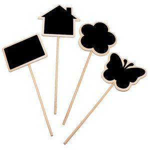 Plant Tags Marker Cute Shape Card Insertion Mini Blackboard Woodiness Arts And Crafts Originality Home Furnishing HHE5993