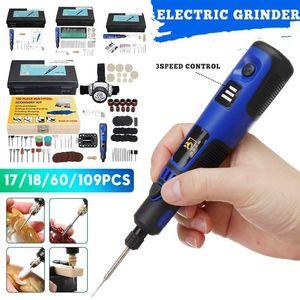 Professiona eléctrica broca usb broca velocidade variável mini moedor gravador caneta kit de ferramenta rotativo corte de polimento de polimento com moagem acce
