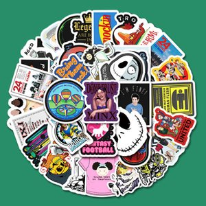 50 cartoon ins style graffiti stickers Skin Protectors laptop mobile phone guitar waterproof suitcase decoration sticker