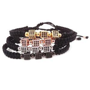 Tennis 2021 Fashion Black Men Bracelets Cube Jewelry Bracelet Women For Macrame Bangles