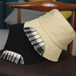 2021 bucket hat designer female spring summer personality dovetail fold stitching fisherman hats womens fashion sun cap mini bags baseball jerseys