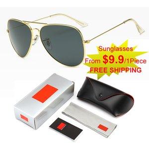 Gafas de sol de lujo de calidad original para hombre Diseño de marca Fashion Classic Oferta especial GOGGLE UV400 POLARIZING 6 COLORES Caja de regalo Conjunto