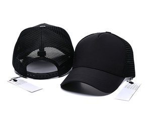 Venta al por mayor Snapback Brand Bonnet Designer curvado camionero sombreros hombres mujeres primavera y verano gorra de béisbol salvaje casual casual moda moda hop hop malla tapas de cuero