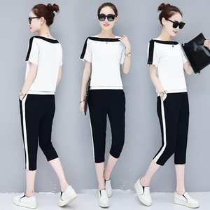White 2 Piece Set Tracksuits For Women Outfit Sportswear Co-ord Plus Sizr Large Top And Pant Suits 2021 Summer Clothing Women's