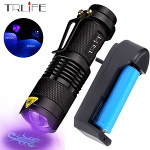 LED UV Flashlight 365nm 395nm Blacklight Scorpion Light Pet Urine Detector Zoomable Ultraviolet rechargeable outdoor lighting 210608