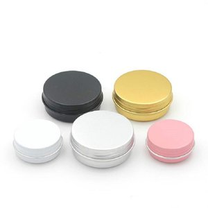 Garden 15ml Metal Aluminium Bottles Tins Lip Balm Containers Empty Jars Screw Top Tin Cans White Gold Black
