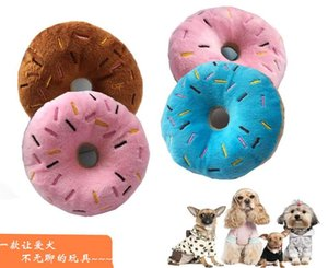 Soft Dog Donuts Plush Pet Dog Chew Toy Cute Puppy Squeaker Sound Toys Funny Puppy Small Medium Dog Interactive Toy#9843