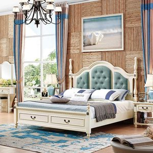Bedroom furniture French double soft back