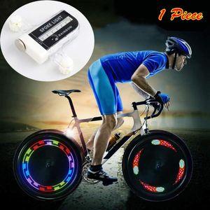 Bike Wheel Lights Waterproof Spoke Ultra Bright 14 LED Bicycle 30 Patterns Changing Auto Manual Switch