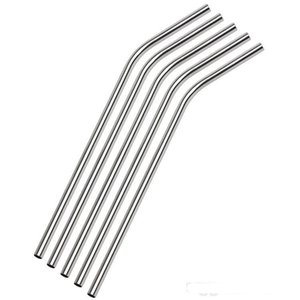DHL shipping 100pcs lot Stainless Steel Straw Steel Drinking Straws 8.5