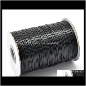 Cord Wire Findings & Components Drop Delivery 2021 1Mm 200Yards 24 Colors High Quality Waxed Cotton Cords For Wax Jewelry Making Diy Bead Str