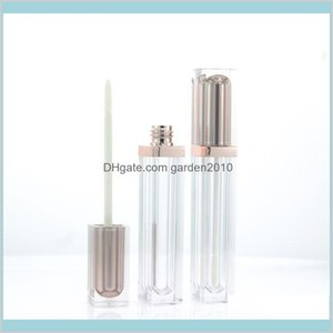 Packing Bottles & Office School Business Industrial 6Ml Champagne Lip Gloss Plastic Container Empty Rose Gold Scrub Black Tube Eyeline