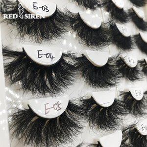 False Eyelashes RED SIREN 25 Mm Mink Fluffy Lashes Dramatic Messy Curl Long Makeup Wholesale 25mm 3d