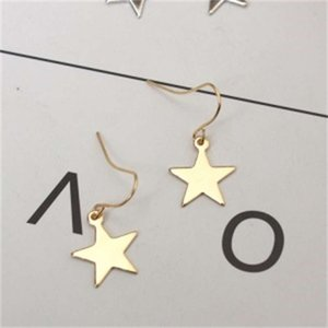 E869 minimalist and versatile geometric girl's lovely five pointed star Stud Earrings