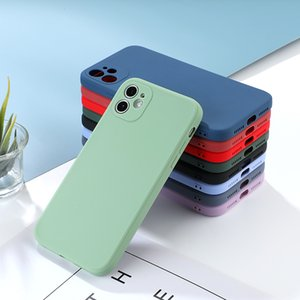 Luxury Straight Edge Phone Cases on For iPhone 12 Pro XS MAX X XR 7 8 Plus Candy Color Soft TPU Cover