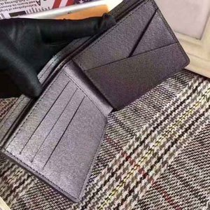 2021 High Quality Men's Wallet Plaid Letter Print Pattern Fashion Paris Style Designer Bag L Wallets Women's Clutch with Box