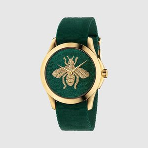Fashion Simple Marque Petite Bee Tiger Snake Modèle Quartz Watch Montre Sports Classic Populaire Style Clock Relogio Masculino 005