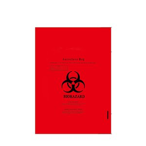 28''x 36'' 4mil Factory sales Yellow red Biohazard Bag hospital clinics infectious plastic disposable medical waste bags