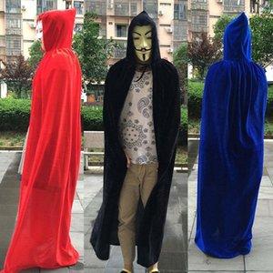 Halloween cospl masquerade Prom Costume Witch cloak witch elf golden Veet Cloak 1.7m