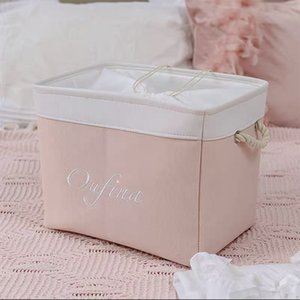 Cloth Storage Baskets Laundry Hamper Foldable Kids Toy Storage Box Home Organizer Quilt Dirty Clothes Toy Basket With Lid