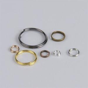 100-200pcs Double Loops Aperto anelli di salto FAI DA TE Risultatori di gioielli Accessori Circle 2layer Split Anelli connettori per gioielli facendo 1376 q2