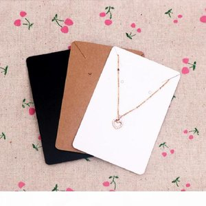 High Quality 6x9cm Kraft Jewelry Cards Paper Earrings Card Necklace Display Packaging Card Tags