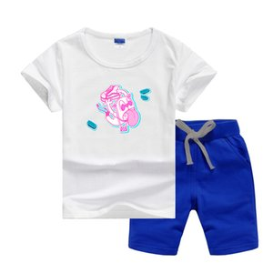 VS Brand Luxury Designer Baby Summer Clothes Set Kids Boy Girl Short Sleeve Tee and Pants 2Pcs Suits Fashion T-shirt Tracksuits Outfits Summers Sport Suit