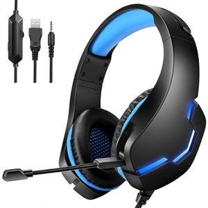 Gaming Headset PC USB 3.5mm Wired Headphone Computer Gamer Earphone Surround Sound & HD Microphone for PS4  PS5  XBOX  Laptop PC