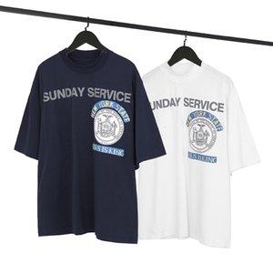 King CPFM Gesù è limitato Kanye Stest Schiuma Stampa di schiuma T-shirt a manica corta da uomo e da donna