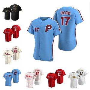 Personalizzato 2021 Philadelphia Jersey 3 Bryceharpe 17 Rhys Hoskins 10 JT Realmuto Uomo Donne Giovanita Qualsiasi Nome Numero Phillies Jerseys