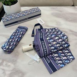 Diseñador de lujo grande a prueba de viento paraguas plegables coloridos tres plegados 8 ribs suave creativo regalo decoración para el hogar