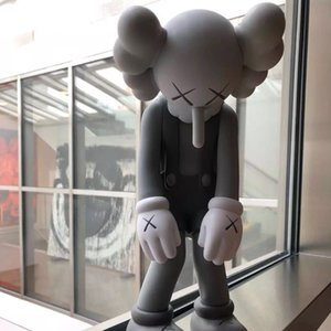 KAWS Delicate Doll design modern art 28CM Figures small lie compan on toy custom vinyl pvc Graffiti figure statue Decorations Original Fake