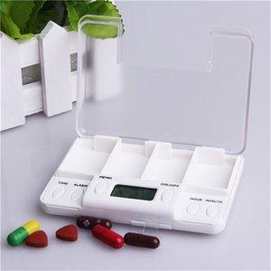 Square Intelligent Timing Daily Reminder Alarm 4-Days Medicine Pill Box Container Tablet Storage Splitters pastilleros pildoras