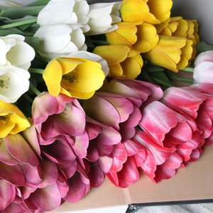 Pcs Netherlands Tulip Artificial Flower Real Touch Fake For Home Decor Wedding Silk Farmhouse Style Decorative Flowers & Wreaths