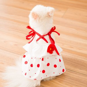 Cute Little Vest Dress Spring Summer Thin Cat Princess Skirt Breathable Small and Medium Sized Dog Clothes