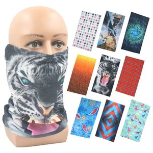 2021 Design Tiger Outdoor Sport Cycling Bandanas Cute Fashion Sunscreen Scarf Balaclava Magic Scarf Neck Warmer