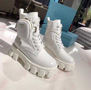Toptan satış yüksek kaliteli kadın ayakkabı! Moda kadın Siyah Matt Patent Deri Çıplak Çizmeler Klasik Çanta Lüks Dekorasyon Martin Muffin Ayakkabı