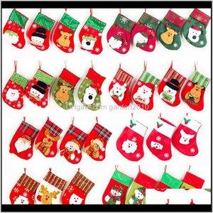 26 Styles Mini Stocking Snow Design Xmas Cute Home Socks Candy Gifts Storage Bag Christmas Decorations Agcf Ob38X