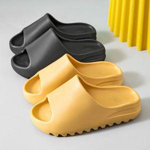 Home women's thick soled slippers platform thick heel living room bathroom slide anti slip fashion designer couple coconut shoes DHL