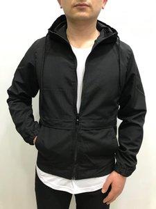 Spring Mens Slim Fit черный с капюшоном вскользь водонепроницаемый ветрозащитный слои пальто на дождевой плащ мужской куртка мужской одежды для мужчин куртки