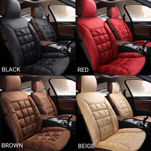 Car Full Surrounding Universal Winter Warm Seat Cover Soft For Plush Cushion Front Chair Backrest Pad Heat Covers