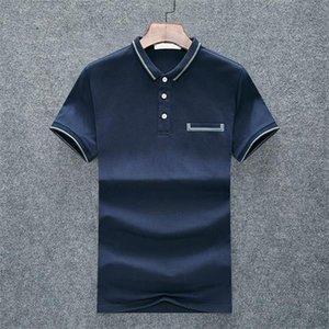 2021mens 디자이너 티셔츠 의류 폴로 셔츠 순수한 면화 럭셔리 크루 넥 짧은 코트 여름 Clothm-3xl # 20에 적합한 최신 스타일