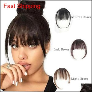 100 Real Human In Clip On Bangs Hand Tied Hair Extension For Women 1Eubg Pupy1