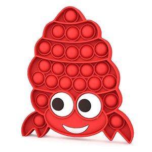 Pioneer Crab Children Toy Bubble Rainbow Push Fidget Pop Sensory Toys Bubbles Poppers Board Pagurus Gracilipes Squeeze Finger Puzzle Stress Relief G65PQMN