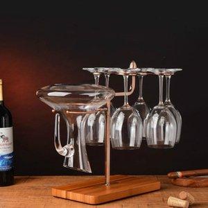 Настольные винные стойки творческие металлические стойки висит стеклянный держатель бар стенд кронштейн дисплей декор