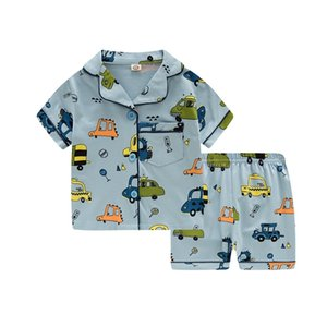 SAILEROAD Cartoon Pajamas For Boys Cotton Pyjamas Kids Pijama Infantil Sleepwear Child Home Wear Clothes Set 210915