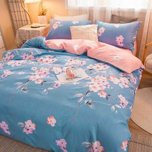 4-Piece Bedding Set Printed Bed Linen Sets Euro 150x200 Comforter Cover Pillowcase Sheet 180x220 135x200 200x200 Twin King size